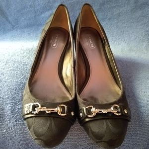 Coach Hester wedge pumps.  Size 8.5
